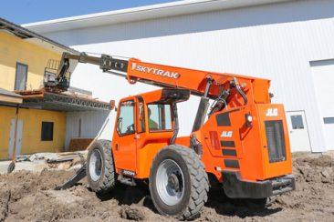 Skytrak moving equipment